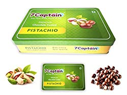 7Captain Chocolate covered Almonds Crunchy Almonds, Cashews, Pistachio & Raisins Drenched in Rich Chocolate (PISTACHIO)