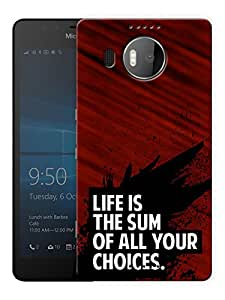 """Humor Gang Life And Choice Motivational Quote Printed Designer Mobile Back Cover For """"Nokia Lumia 950 XL"""" (3D, Matte Finish, Premium Quality, Protective Snap On Slim Hard Phone Case, Multi Color)"""