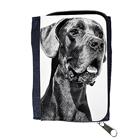 Denim Wallet with Coin Purse // F00019524 Great Dane dog // Purse Wallet