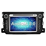 Ohok 7 Zoll Bildschirm 2 Din Autoradio Android 8.0.0 Oreo Octa Core 4G+32G Radio mit Navi Moniceiver DVD GPS Navigation Unterstützt Bluetooth WLAN DAB+ OBD2 für Mercedes-Benz Smart 2012-2015
