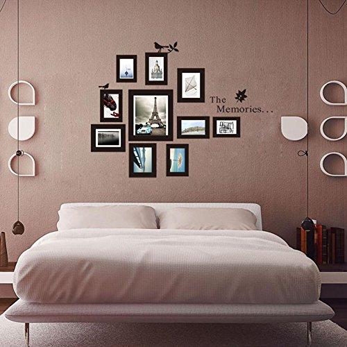 Zooarts los recuerdos Marco de fotos pegatinas para pared adhesivos decor Mural de Vinilo Para Salón o