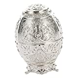 D Dolity Metal Automatic Toothpick Holder Case Can Box Container Metal Toothpick Storage Box - Silver