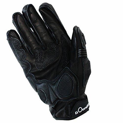 GOandStOp GS-GL1 Motorradhandschuhe Schutzhandschuhe Herren Winter Leder XL Schwarz