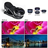 Lens Kit 2en 1Clip On with 0.65x Super Wide Angle + 10–32mm Super Macro Lens para iPhone 7S/7S Plus iPhone 6S/6S Plus, iPhone se 5/5s/5C/4, iPad, Samsung HTC Sony LG and all Other Smartphones