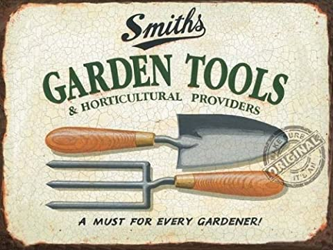 SMITHS GARDEN TOOLS Metal Advertising Sign (SMALL 200mm X 150mm) by The Original Metal Sign Company