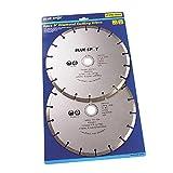 Blue Spot 19549 2 Piece 9 Inch Diamond Cutting Disc Set