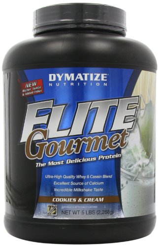 Dymatize Elite Gourmet Whey Protein Cookies and Cream, 1er Pack (1 x 2.3 kg) (Protein Gourmet Dymatize Elite)