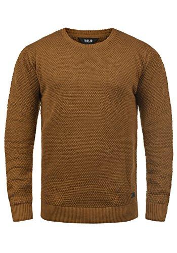 SOLID Karl O-Neck Herren Strickpullover mit Rundhalskragen aus 100% Baumwolle, Größe:XXL, Farbe:Cinnamon (5056)