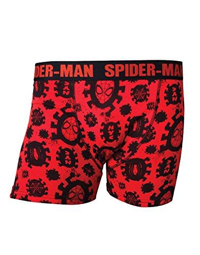 Marvel Herren Comics Spider-Man Men's All-Over Print Boxer Shorts Underwear, Medium, Red/Black (ZB240331SPN-M) Boxershorts, Hersteller Größe:Medium