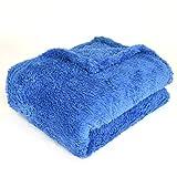 EHC Manta de sofá térmica de Polar Super Suave, Azul, Individual, 130 x 210cm