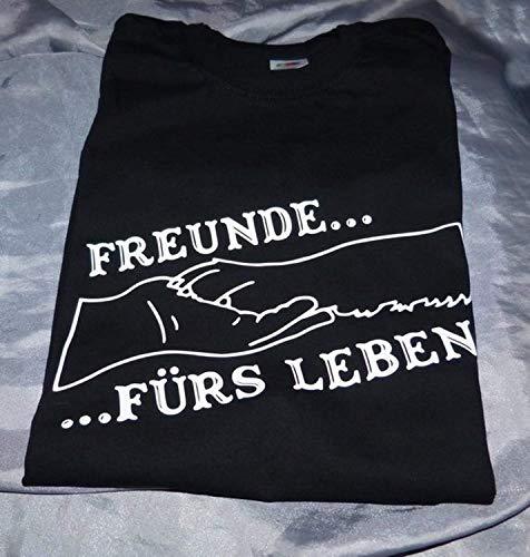 T Shirt Freunde fürs Leben Pfote in Hand