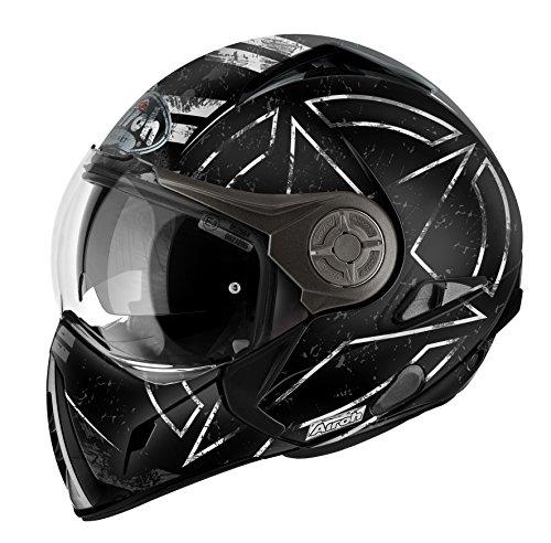 Airoh casco per moto J106, Command Nero Opaco, 54