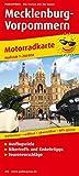 Mecklenburg-Vorpommern: Motorradkarte mit Ausflugszielen, Einkehr- & Freizeittipps und Tourenvorschlägen, wetterfest, reissfest, abwischbar, GPS-genau. 1:250000 (Motorradkarte / MK)