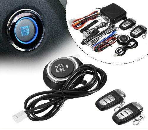 FidgetGear 9 in 1 Start Push Button Remote Starter Keyless Entry Car SUV Alarm System Engine
