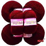 #9: Vardhman Acrylic Knitting Wool, Pack of 6 (Mehroon) (Pack of 6)
