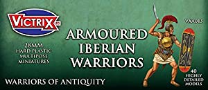 Victrix VXA013 - Ancient Iberian Armoured Warriors - 40 Figure Set - 28mm Plastic Miniatures - Warrior of Antiquity