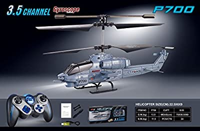 Rc Helicopter Army Cobra Marine Apache Remote Control Magic Wand Helicopter P700B