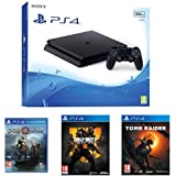 Pack PS4 500 Go + God of War + Call of Duty Black Ops 4 + Shadow of the Tomb Raider
