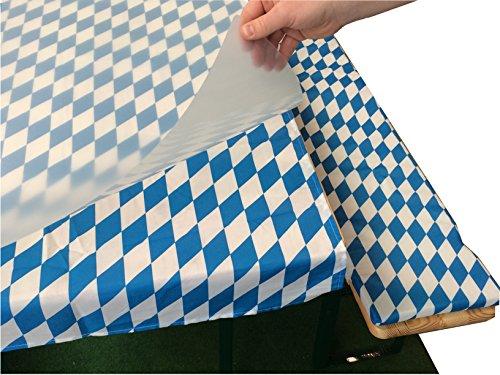 Tischplatte für Bierzeltgarnitur, Biertischhussen, Biertischgarnitur, Festzeltgarnituren (109cm x...