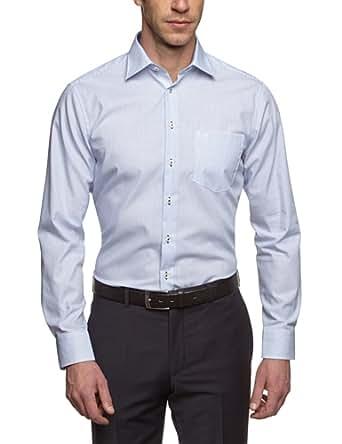 Seidensticker Herren Regular Fit Businesshemd KENT SPECIAL CUFF 185868, Gr. Small (Herstellergröße: 38), blau