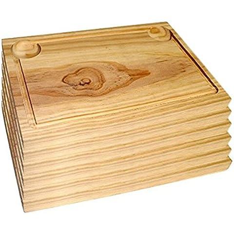 Ruibal - Plato de Madera para Churrasco - Set de 6 - 30*20 cm