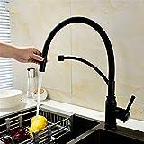 LHbox Tap Kupfer Schwarz Ziehen Kalt Und Warmwasser Küche Wasserhahn  Schüssel Waschbecken Waschmaschine Küche Pool