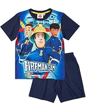 Sam el bombero Chicos Pijama Mangas Cortas - Azul Marino