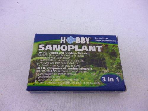 Hobby Sanoplant, CO2 Düngetabletten, 20 St. Wassertest, Teststreifen, Alkanität Test, Pflege