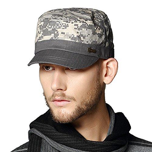 Kenmont Printemps Unisexe Homme Coton militaire Hat Visière Camouflage cadets