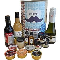 Lata con abre fácil con productos gourmet para regalo hombre