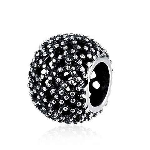 Hmilydyk authentique Bijoux pour femme Argent sterling 925Pois ronds Charm Cheap Perle Pandora Charm Bracelet