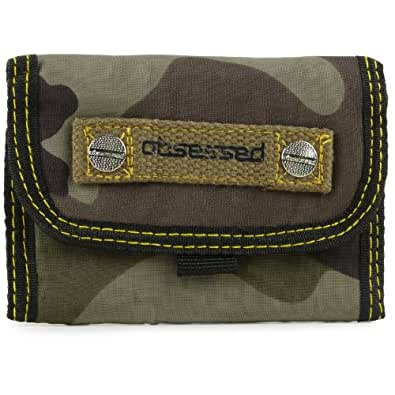 Obsessed - Portefeuille Homme Garcon Fermeture Vélcro Motif Camouflage