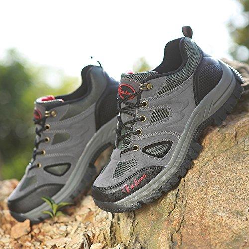 Outdoor Impermeabili Scarpe da Trekking ed Escursionismo Uomo Grigio