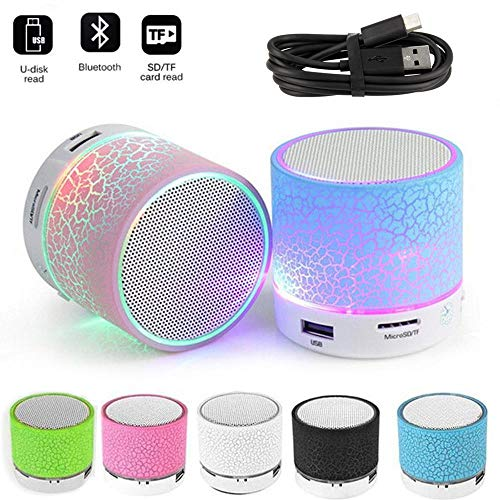 Hireer S10 Mini Wireless Bluetooth Speakers (Portable Plastic) with TF Card (Multicolour) Qty: 1