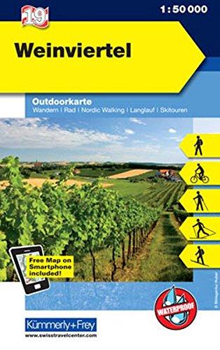 Weinviertel: Nr.19 , Outdoorkarte Österreich, 1:50 000, Mit kostenlosem Download für Smartphone (Kümmerly+Frey Outdoorkarten Österreich)