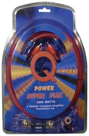 TheWholesaleHouse Qpower 4 Gauge Amp Kit Super Flex (100 Amp Kit)