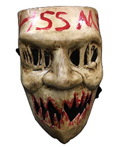 ' Kiss me 'universell Halloween Maske mit elastischer band (Purge-maske Halloween)
