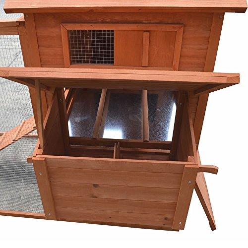Hühnerstall / Hühnerhaus mit Freigehege aus Holz ca. 310 x 150 x 150 cm - 5