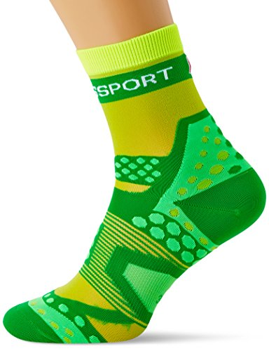 Compressport Run Ultralight - Calcetín de running unisex, color verde, talla 2