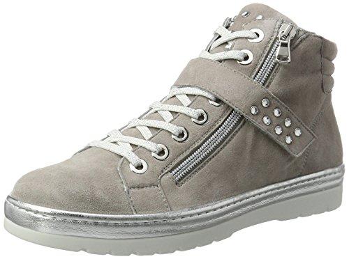 Semler Damen Ruby Biker Boots, Grau (Perle-Silber), 39.5 EU