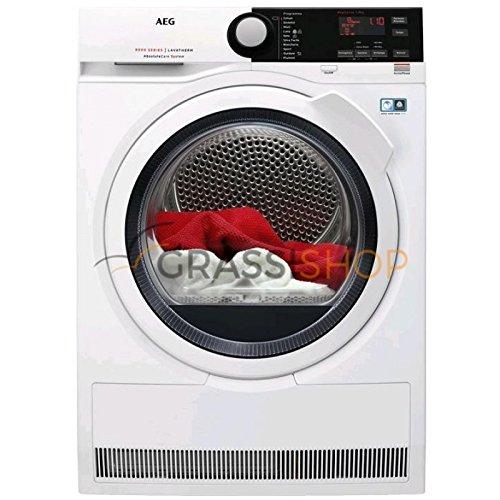 AEG T8DBE851 Libera installazione Caricamento frontale 8kg A+++ Nero, Bianco asciugatrice