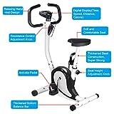 Popamazing Fitness-Heimtrainer, Cardio zu Hause auf dem Fahrrad, Fitness, Sport, verstellbarer Widerstand, Schwarz