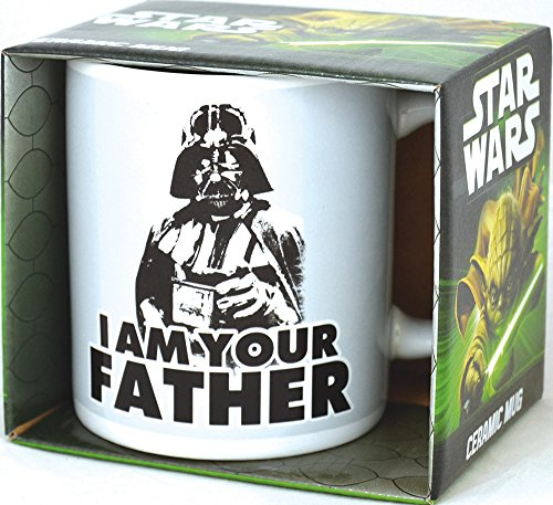 Lasgo Star Wars Tazza Vader i Am Your Father, Ceramica, Bianco, 20x11.2x5.8 cm