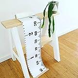 binghang–Medidor de altura de fotos tabla de crecimiento de los niños altura medida enrollable charportable con resistente lona regla 20x 200cm