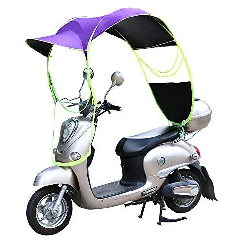 WM&LJP Fahrrad Electric Sun Shade Regen-Abdeckung, Universal Motorroller Regenschirm Mobilität Sonnenschutz & Regen-Abdeckung Wasserdicht,Lila