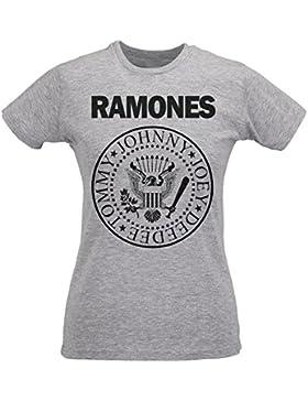 Camiseta Mujer Slim Ramones - Maglietta 100% algodòn ring spun LaMAGLIERIA