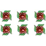 Traditional Handmade Decorative Dipawali / Diwali Diya -Set Of 6