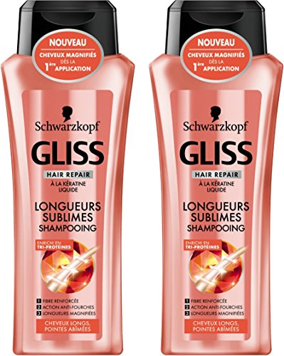 Gliss Longueurs Sublimes Shampooing 250 ml - Lot de 2