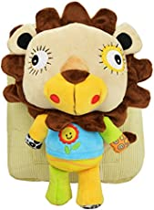 N&M Lion Small School / Picnic Bag /Backpack with Detachable Toy - Yellow