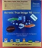 Acronis True Image 10 Home. Die komplette Backup-Lösung für Ihre System und Ihre Daten! Alles sichern: System, Daten, Programme. Benutzerhandbuch und CD.